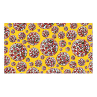 Yellow pizza pie business card