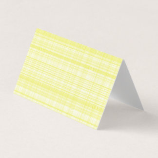 Yellow Plaid Blank Greeting Cards