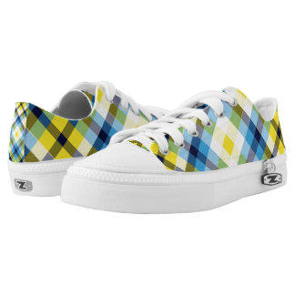 Yellow Plaid I Lo-Top Printed Shoes