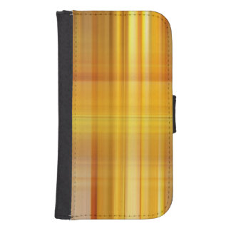 Yellow Plaid Samsung S4 Wallet Case