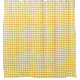 Yellow Plaid Shower Curtain