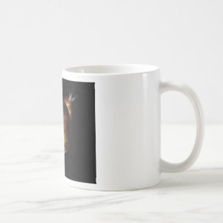 yellow planet 3d illustration in universe coffee mug