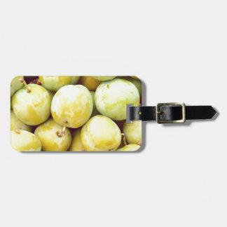 Yellow plums macro luggage tag