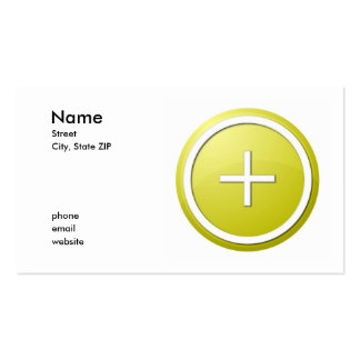 yellow plus business card templates