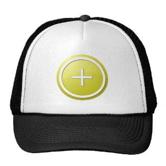 Yellow Plus Round Trucker Hats