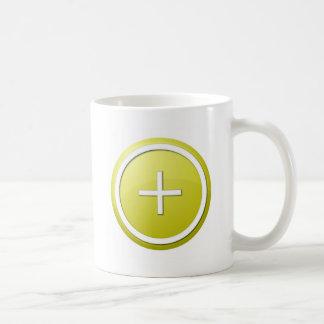 Yellow Plus Round Mug