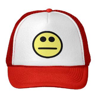 Yellow Poker Face Stare Smiley Face Cap