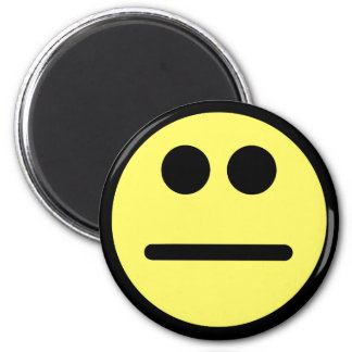 Yellow Poker Face Stare Smiley Face Magnet