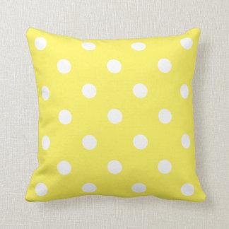 Yellow Polka Dot Cushion