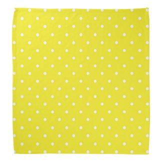 Yellow Polka Dot Design Bandana