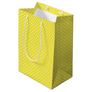 Yellow Polka Dot Pattern Gift Bag