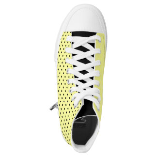 Yellow polka dot printed shoes