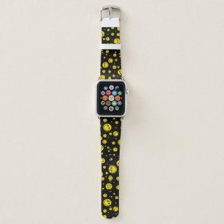 Yellow Polka Dot Smileys Apple Watch Band