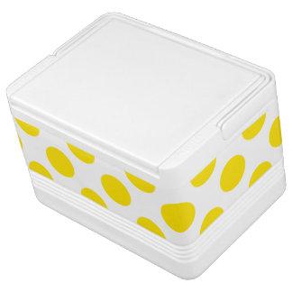 Yellow Polka Dots Cooler