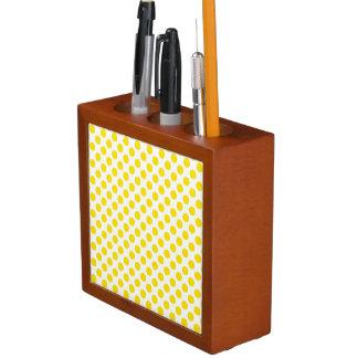 Yellow Polka Dots Desk Organiser