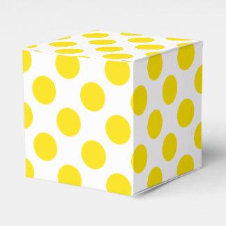 Yellow Polka Dots Favour Box