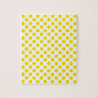 Yellow Polka Dots Jigsaw Puzzle