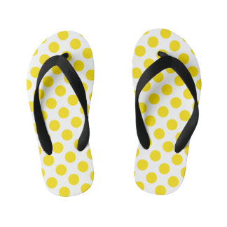 Yellow Polka Dots Kid's Thongs