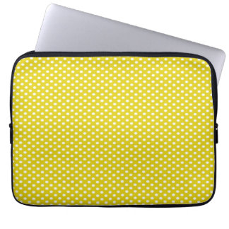 Yellow Polka Dots Laptop Sleeve