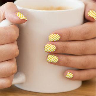 Yellow Polka Dots Minx Nail Art