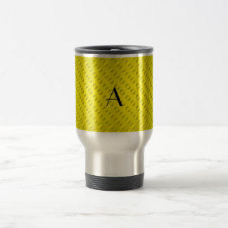 Yellow polka dots monogram mug