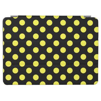 Yellow polka dots on black backgound iPad air cover
