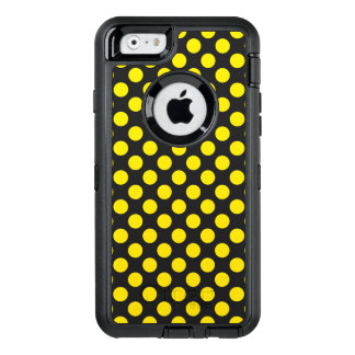 Yellow Polka Dots OtterBox Defender iPhone Case