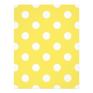 Yellow Polka Dots Pattern 21.5 Cm X 28 Cm Flyer