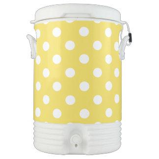 Yellow Polka Dots Pattern Drinks Cooler