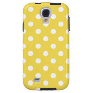Yellow Polka Dots Pattern Galaxy S4 Case