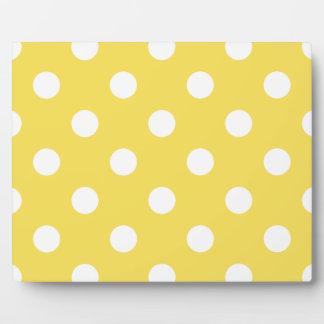 Yellow Polka Dots Pattern Plaque