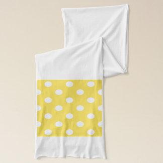 Yellow Polka Dots Pattern Scarf