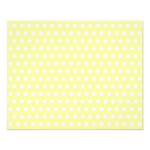 Yellow polka dots pattern. Spotty. Custom Flyer