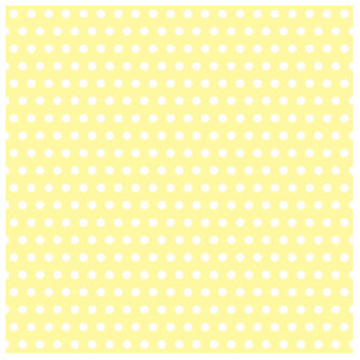 Yellow polka dots pattern. Spotty. Standing Photo Sculpture