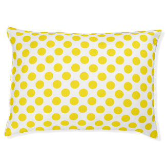 Yellow Polka Dots Pet Bed