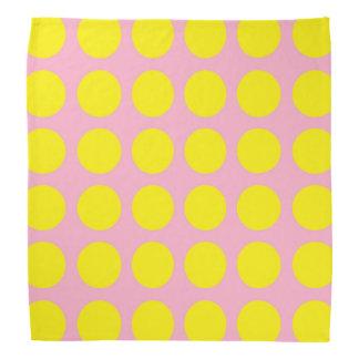 Yellow Polka Dots Pink Bandannas