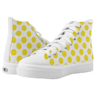 Yellow Polka Dots Printed Shoes