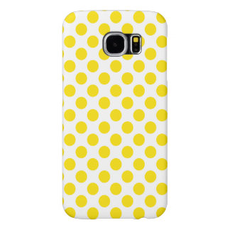 Yellow Polka Dots Samsung Galaxy S6 Cases