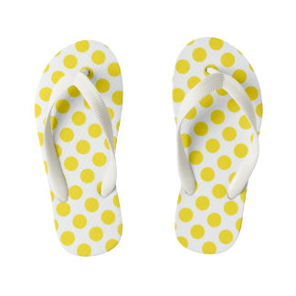 Yellow Polka Dots Thongs