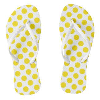 Yellow Polka Dots Thongs