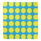 Yellow Polka Dots Turquoise Bandana