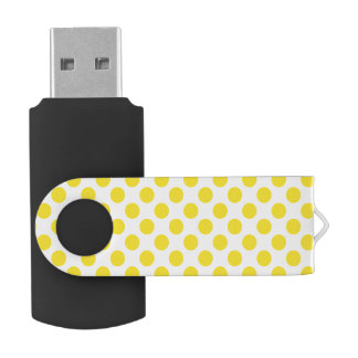 Yellow Polka Dots USB Flash Drive
