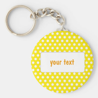 Yellow Polkadot Key Chain