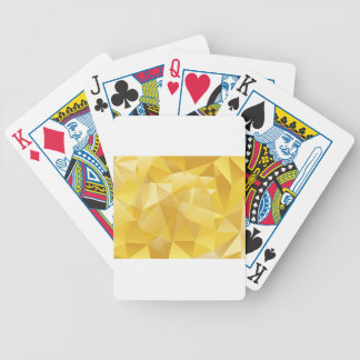 Yellow Polygon Poker Deck