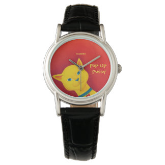 Yellow Pop Up Pussy Watch