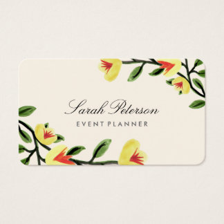 Yellow Poppies Business Card