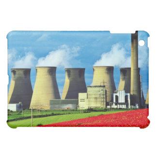 Yellow Poppy field and Ferrybridge power station, iPad Mini Covers