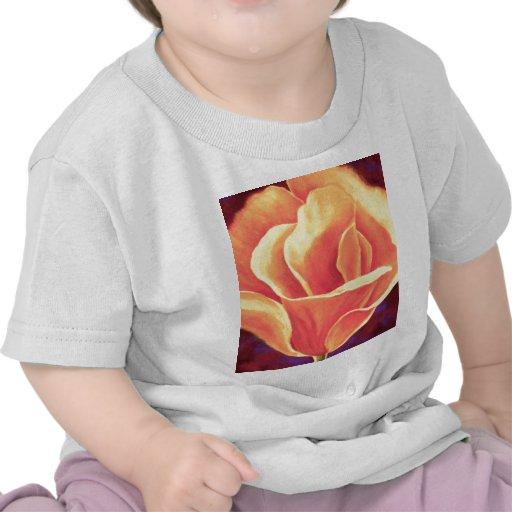 Yellow Poppy Flower Painting - Multi Tee Shirts