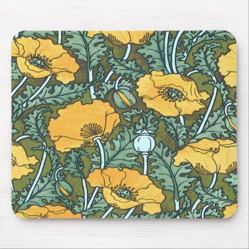Yellow Poppy Mousepad