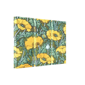 Yellow Poppy ~ Stretched Canvas Print